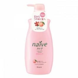 Шампунь для сухих волос восстанавливающий с экcтрактом персика и маслом шиповника - KANEBO Naive