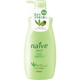 Шампунь для нормальных волос восстанавливающий с экcтрактом алоэ и маслом виноградных косточек - KANEBO Naive