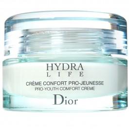 Крем для лица увлажняющий, предупреждающий старение кожи для нормальной и сухой кожи - CHRISTIAN DIOR Hydra Life Creme Confort Pro-Jeunesse