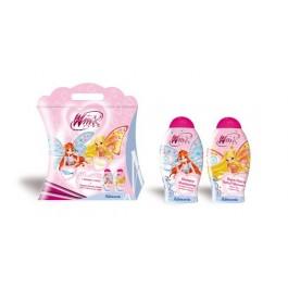 Набор подарочный - шампунь для волос с экстрактом орхидеи и манго, гель-пена для душа с экстрактом фиалки и риса - ADMIRANDA Winx