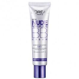 Крем-уход тональный, увляжняющий, с эффектом естественного сияния - L'OREAL Nude Magique BB cream
