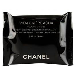 Запасной блок к крему тональному для лица компактному увлажняющему для нормальной, сухой кожи - CHANEL Vitalumiere Aqua Cream Compact SPF15