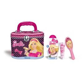 Набор подарочный: шампунь для волос, расческа для волос, гель для тела с блестками, чемоданчик - ADMIRANDA Barbie