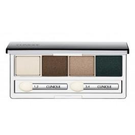 Тени для век 4-цветные компактные, устойчивые - CLINIQUE All About Eye Shadow Quad