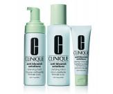 Набор 3-ступенчатая система для ухода за проблемной кожей - CLINIQUE Anti-Blemish Solutions (Foam 50ML + Lot 100ML + Cream 30ML)