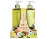 Набор для ухода за кожей рук с ароматом кокоса и лайма: мыло для рук жидкое, лосьон для рук и ногтей - GRACE COLE Hand Care Duo Coconut & Lime