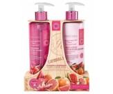 Набор для ухода за кожей рук с ароматом розового грейпфрута и арбуза: мыло для рук жидкое, лосьон для рук и ногтей - GRACE COLE Hand Care Duo Watermelon & Pink Grapefruit