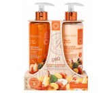 Набор для ухода за кожей рук с ароматом персика и груши: мыло для рук жидкое, лосьон для рук - GRACE COLE Hand Care Duo Peach & Pear