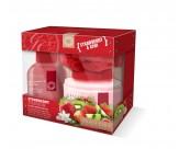 Набор для тела с ароматом клубники и киви: гель для душа очищающий, освежающий, лосьон для тела, мочалка - GRACE COLE Strawberry Passion