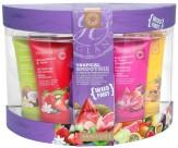 Набор для тела с ароматом тропических фруктов: гель для душа очищающий, освежающий, мыло для тела, мочалка - GRACE COLE Tropical Smoothie