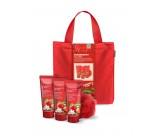 Набор для тела с ароматом клубники и киви: гель для душа, лосьон для тела, пена для ванны, мочалка, сумка - GRACE COLE Strawberry Bliss