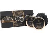 Набор подарочный с ароматом белого нектарина и груши: скраб для тела, крем для тела, мочалка - GRACE COLE Indulgence